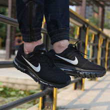 Load image into Gallery viewer, Men Nike Air Max Breathable Running Shoes - Black - esstey