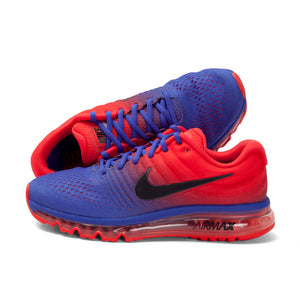 Men Nike Air Max Breathable Running Shoes - Multi tone Red Purple - esstey