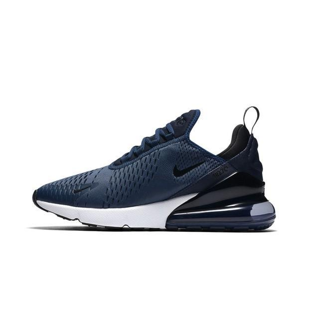Nike Air Max 270 Men's Running Shoes Comfortable Breathable - Blue Color - esstey
