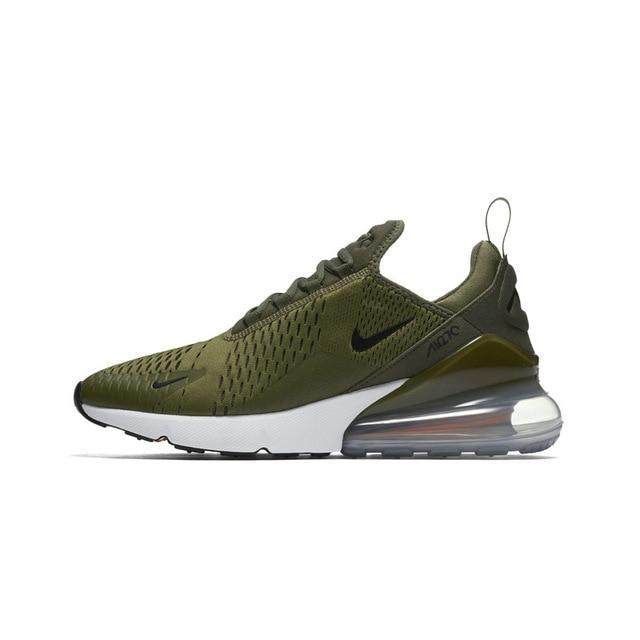 Nike Air Max 270 Men's Running Shoes Comfortable Breathable - Army Green Color