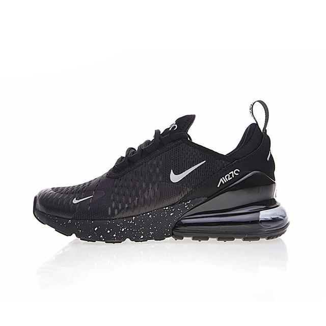 Nike Air Max 270 Men's Running Shoes Comfortable Breathable - Black Color
