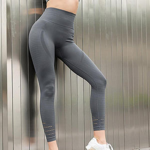 Women High Waist Stretched Sports Pants for Yoga Workouts - esstey