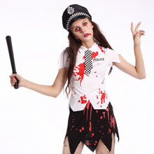 Load image into Gallery viewer, Halloween Zombie Police Costume Classic Uniform Cosplay Costume Set - esstey