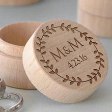 Load image into Gallery viewer, Wedding Ring Box Custom Name Handmade Letter - esstey