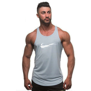 Men bodybuilding stringer tank top - men fitness T shirt sleeveless vest - esstey