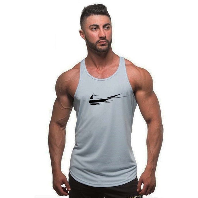 Men bodybuilding stringer tank top - men fitness T shirt sleeveless vest
