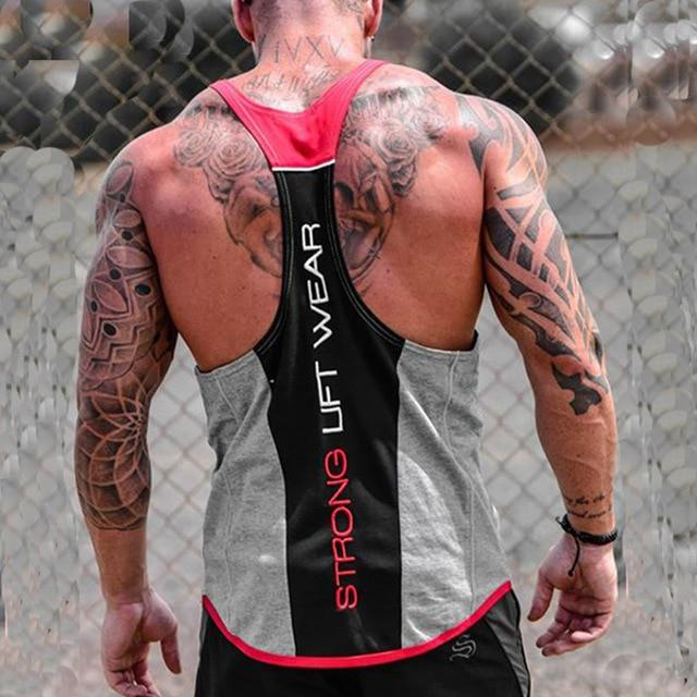 Men Bodybuilding Tank top Fitness Vest for High Performance Workout - esstey