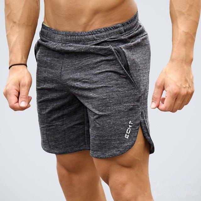 Men Gym Cotton Shorts - Gray Color - esstey