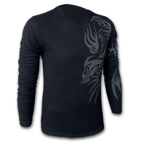 Men's Dragon Tattoo Printed T-Shirts - Cotton Crew Neck Casual Tees
