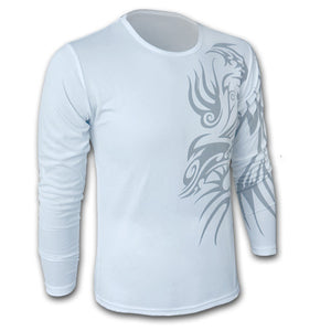 Men's Dragon Tattoo Printed T-Shirts - Cotton Crew Neck Casual Tees - esstey