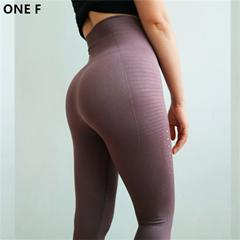 Women hollow out sport leggings widen high waist squat yoga pants - esstey