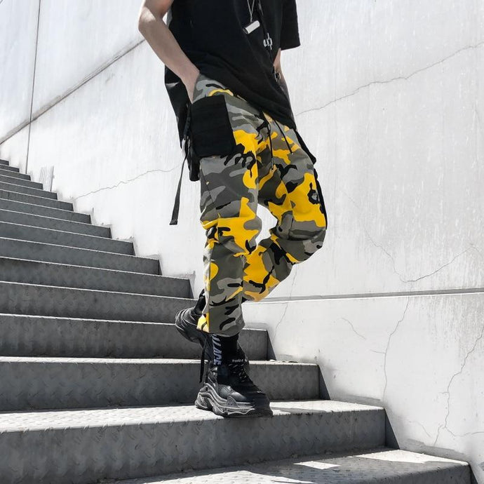 'Combat Camo' Pants yellow / S