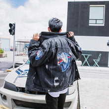Load image into Gallery viewer, 'Wolf in My Back' Denim Jacket - esstey