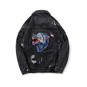 'Wolf in My Back' Denim Jacket - esstey