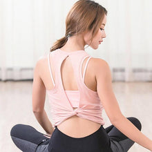 Load image into Gallery viewer, Women's Open back workout yoga top vest - esstey