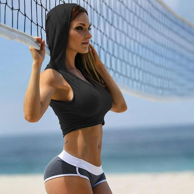 Women Hooded Sports Bra - Multiple Colors Available - esstey