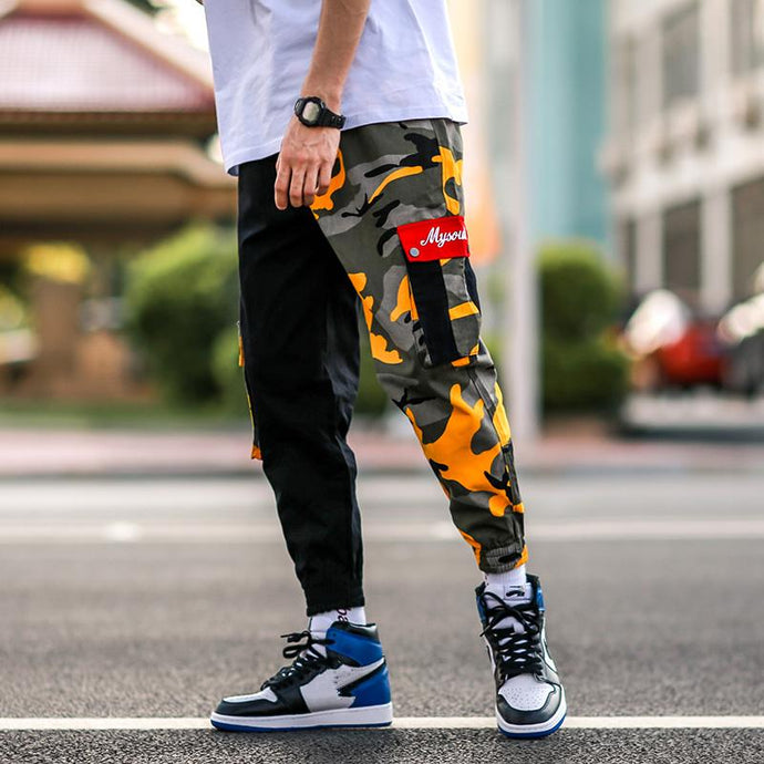 'Camo Sector' Joggers Yellow / M