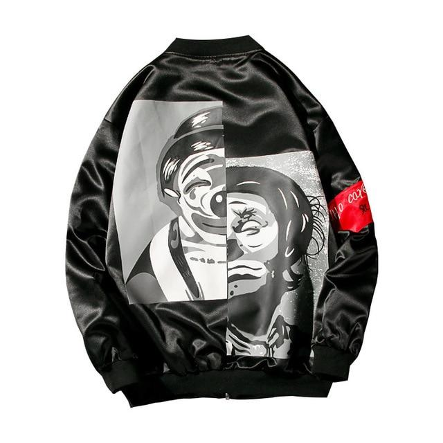 'Rising Jester' Symbolic Bomber Jacket w/ Luxury Red Tags - esstey