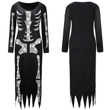 Load image into Gallery viewer, Women Ghost Festival Horror Skeleton Costume Halloween Holiday Party Club Dress - esstey