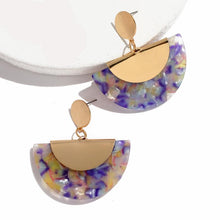 Load image into Gallery viewer, Trendy Charm Drop Dangle Hanging Broncos Resin Acrylic Earrings - esstey