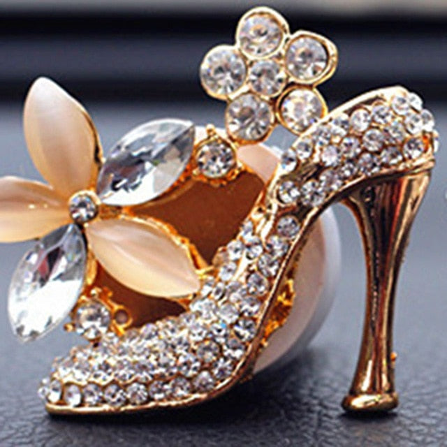 Girls High Heels Car Perfume Air Freshener Clip - esstey