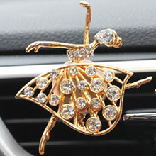 Load image into Gallery viewer, Dancing Girl Crystal Car Perfume Air Freshener Clip - esstey