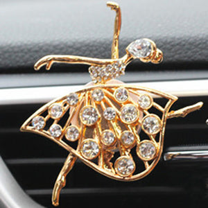 Dancing Girl Crystal Car Perfume Air Freshener Clip - esstey