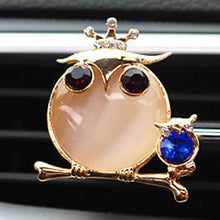 Load image into Gallery viewer, Crystal Owl Car Perfume Air Freshener Clip - esstey
