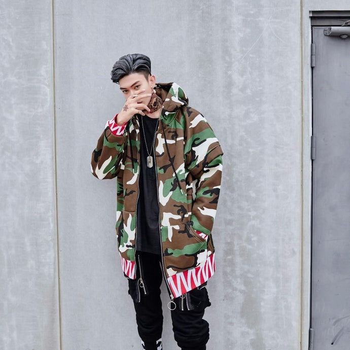 'Wanted Camo' Trench Jacket - esstey