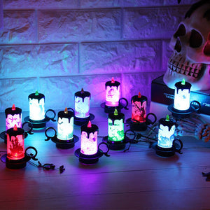 Halloween Candle with LED Tea light 12 pcs/set - esstey