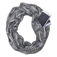 Load image into Gallery viewer, Women Convertible Winter Scarf with Zipper Pockets - esstey