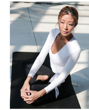 Load image into Gallery viewer, Women Long-sleeve Yoga Workout Shirt - esstey
