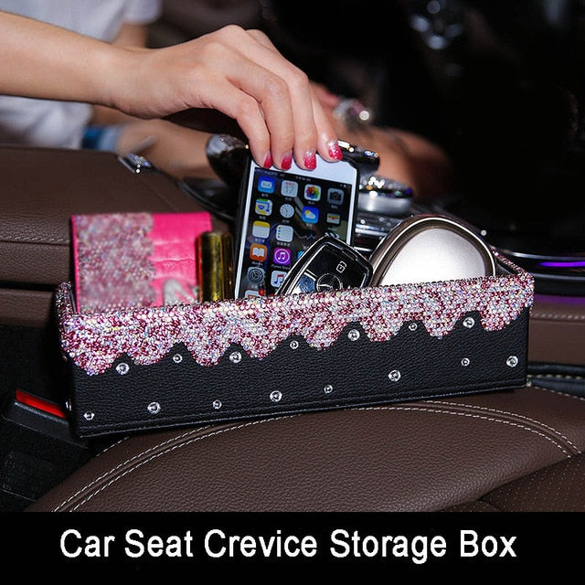 Pink Crystal Crevice Storage Box for Girls - esstey