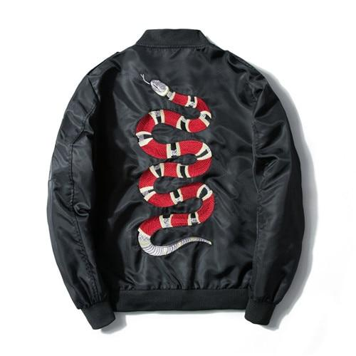 'Red Snake' Bomber Jacket - esstey