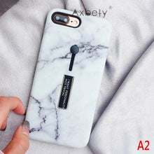 Load image into Gallery viewer, Marble Fashion case for iPhone 6s 6 XS MAX/XR 7 8 Plus Phone Cases with hidden stand and finger holder - esstey