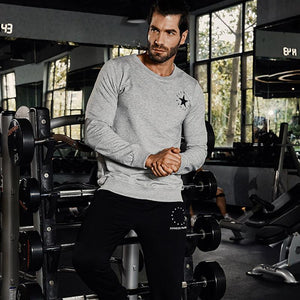 Men Cotton Sweatshirt to Support your Gyms Fitness Workout Routines - esstey