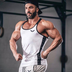 Mens bodybuilding Patchwork Tank Top For Gym Fitness workout - esstey