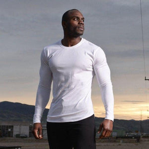 Mens Solid Cotton Long sleeve T-shirt for Gym workouts - esstey