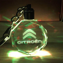 Load image into Gallery viewer, 3D LED Light Car Logo Key Chain Laser Engraved - esstey