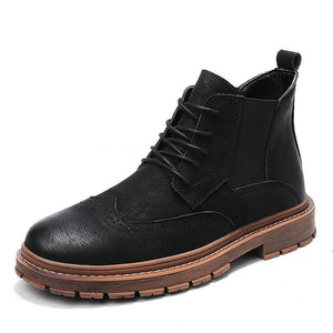 'Comfortable Hiking' Leather Boots - esstey