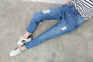 Harem Ripped Pants for Summer | Casual Loose Jeans - esstey