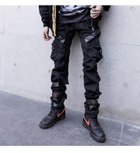 Load image into Gallery viewer, 'Patchwork Leather' Cargo Pants - esstey