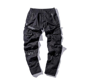 'Patchwork Leather' Cargo Pants - esstey
