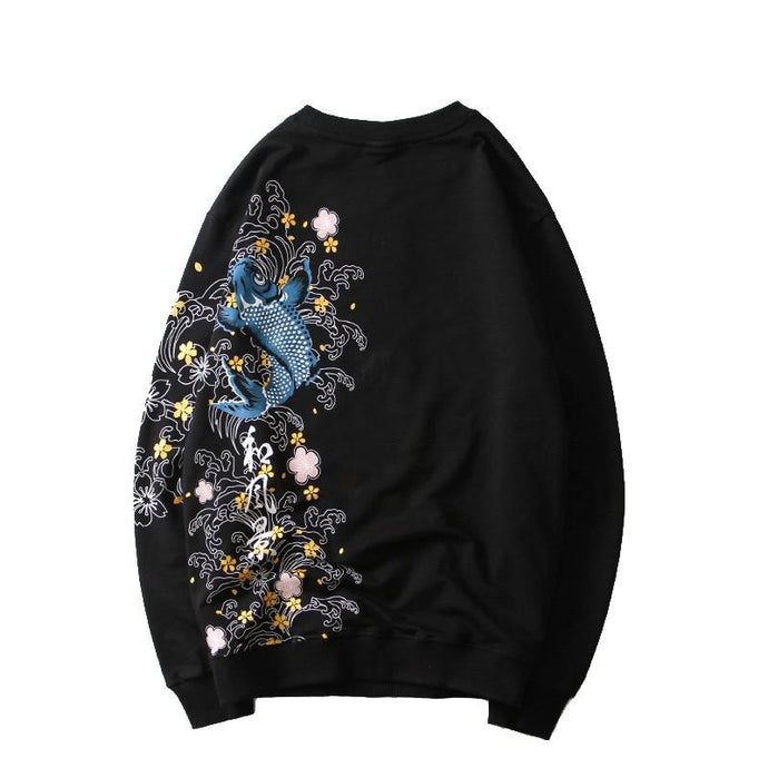 'One Sided Koi' Sweatshirt - esstey