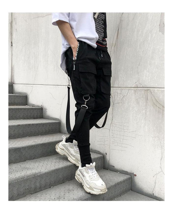'Full Pocket Sling' Pants - esstey