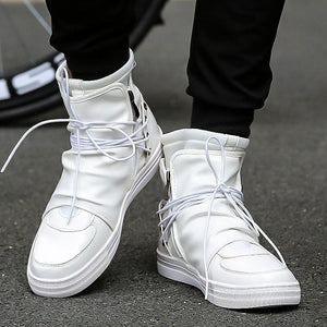 'Noir' Deluxe High Top Sneakers - esstey