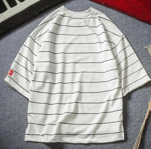 'Plush Striped' T-shirt - esstey