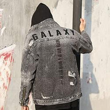 Load image into Gallery viewer, 'Galaxy' Denim Jacket Black / M