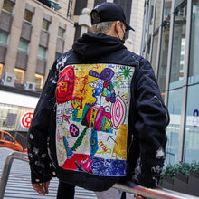 Load image into Gallery viewer, 'Cartoon Appliques' Denim Jacket - esstey
