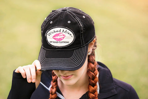 Wicked Miss Logo Patch Distressed Cap